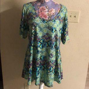 LulaRoe floral top size XL